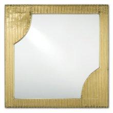 Morneau Brass Square Mirror