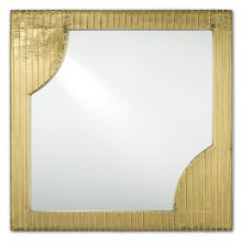 Morneau Brass Square Mirror