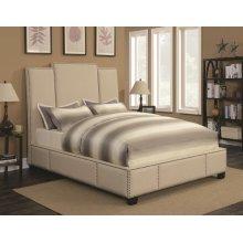 Lawndale Beige Upholstered Full Bed