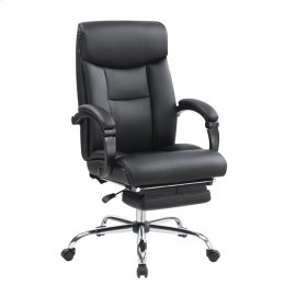Transitional Chrome Office Chair
