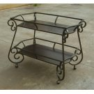 Traditional Dark Bronze and Cappuccino Serving Cart Product Image