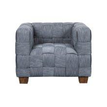 Woven Accent Chair, Indigo