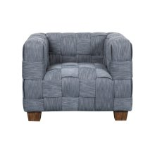 Woven Accent Chair, Indigo