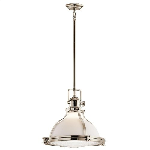 "Hatteras Bay Collection 1 Light 18"" Pendant  Polished Nickel"