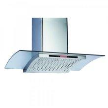 Canopy Hood 36 inc 600 CFM Curved Glass SS