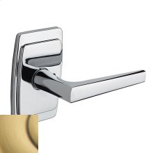 Satin Brass and Brown L024 Estate Lever