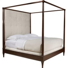 Artisan Poster Bed (Queen) with Tall Biscuit-Stitched Uph. Headboard