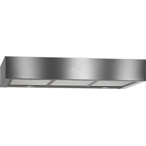MieleDA 1280 30-inch built-under ventilation hood with energy-efficient LED lighting and sliding switch for simple operation.