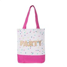 """Party"" Canvas Megan Tote"
