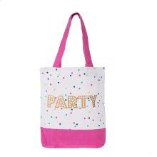"""""""Party"""" Canvas Megan Tote"""