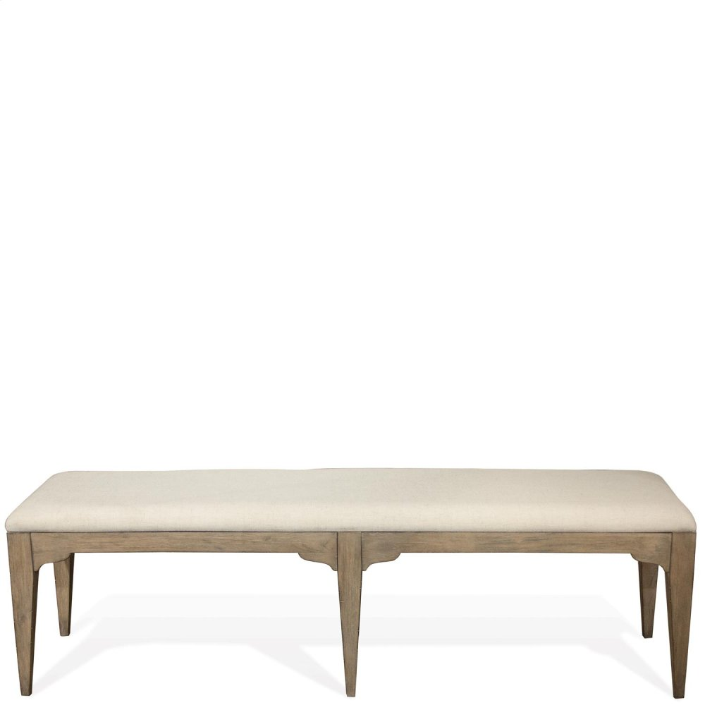 Myra   Upholstered Dining Bench   Natural Finish