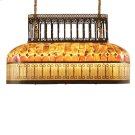 Multi Shell Inlaid Chandelier with Reverse Painted Panels, Black Iron Finish Product Image