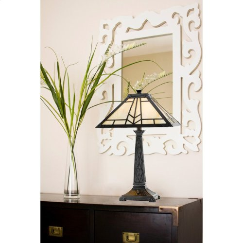 60W X 2 Mission Tiffany Table Lamp