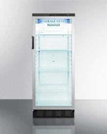 Full-sized Glass Door Beverage Merchandiser With Lock In Slim Width