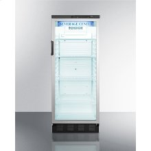 Full-sized Glass Door Beverage Merchandiser With Lock In Slim Width