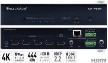 4x1 4K/18G HDMI Switcher, Audio De-embedding of Analog L/R Balanced/Unbalanced & Digital Coaxial Audio