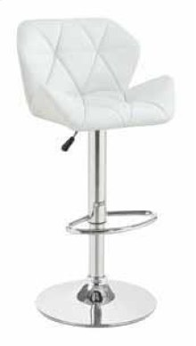 Adjustable Bar Stool, White