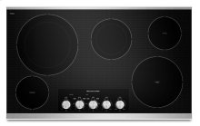 """36"""" Electric Cooktop with 5 Radiant Elements - Stainless Steel - KECC664BSS - ONLY AT JONESBORO LOCATION!"""