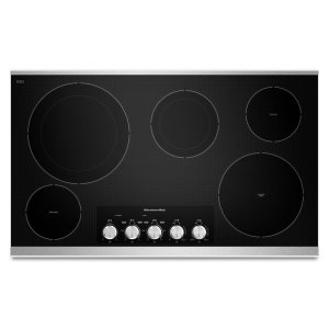 """Kitchenaid36"""" Electric Cooktop with 5 Radiant Elements - Stainless Steel"""