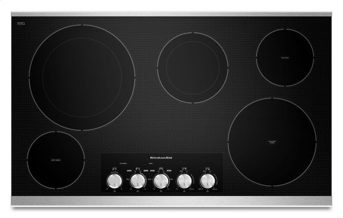 """36"""" Electric Cooktop with 5 Radiant Elements - Stainless Steel"""