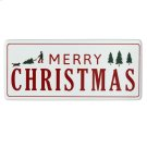 "Oversized Red & White Enamel ""Happy Holiday's"" Wall Decor. Product Image"