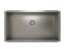 """Stainless steel kitchen sink, handcrafted With Urban style corners [0""""] Product Image"""