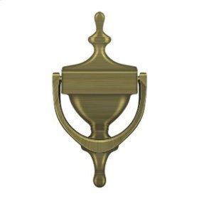 Door Knocker, Victorian - Antique Brass