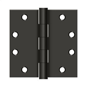 """4 1/2"""" x 4 1/2"""" Square Hinges, HD - Oil-rubbed Bronze"""