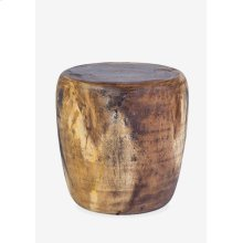 Newcomb Organic wood drum ottoman - natural
