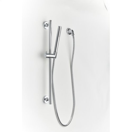 Slide Bar with Hand Shower Taos (series 17) Polished Chrome