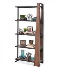 """16462 Wildwood """"Live Edge"""" Industrial Pier Bookcase Product Image"""