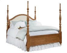 Bench Camelback Upholstered Poster Queen Bed