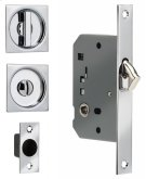 Sliding Pocket Door Mortise Lock - Solid Brass in SB (Shaded Bronze, Lacquered) Product Image