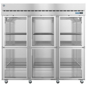 HoshizakiR3A-HG, Refrigerator, Three Section Upright, Half Glass Doors with Lock