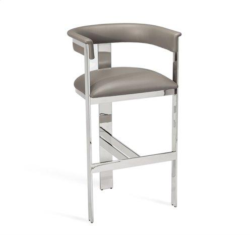 Darcy Bar Stool - Grey/ Nickel