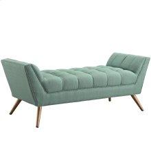 Response Medium Upholstered Fabric Bench in Laguna