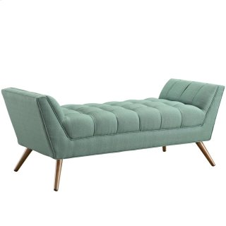Response Medium Upholstered Fabric Bench in Laguna