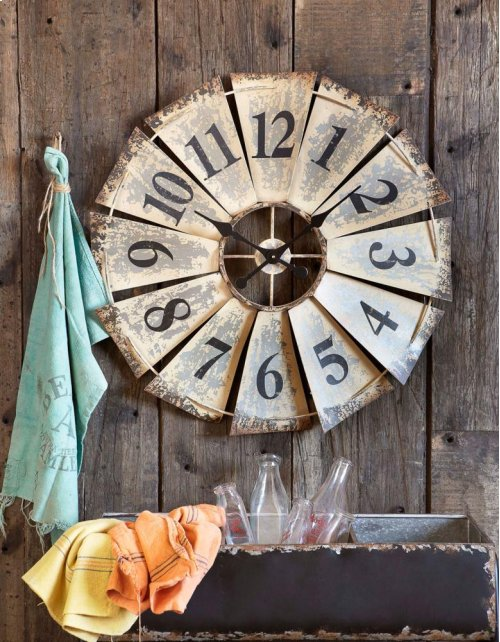 Vintage Fan Wall Clock.
