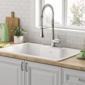 Quince 33x22-inch Cast Iron Sink  American Standard - Brilliant White