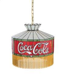 "16""W Coca-Cola Fringed Pendant"