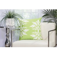 "Outdoor Pillow As065 Apple Green 20"" X 20"" Throw Pillow"