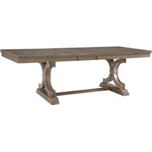 JOHN THOMAS FURNITUREExtension Table and Base in Taupe Gray