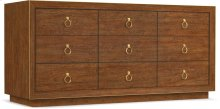 Roman Nine-Drawer Dresser