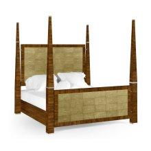 Ivory Shagreen Cali King Bed