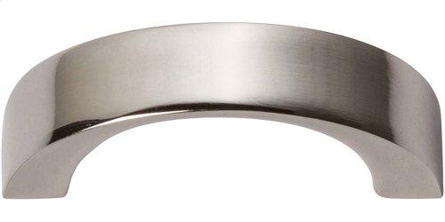Tableau Curved Handle 1 7/16 Inch - Polished Nickel