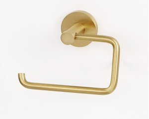Contemporary I Single Post Tissue Holder A8366 - Satin Brass Product Image