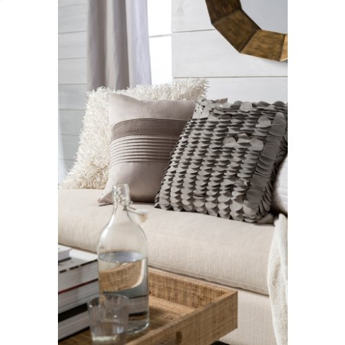 """Solid Pleated HH-015 22"""" x 22"""" Pillow Shell Only"""