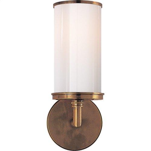Visual Comfort S2006HAB-WG Studio Cylinder 1 Light 6 inch Hand-Rubbed Antique Brass Bath Wall Light