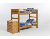 Heartland Two Piece Bunk Bed with options: Honey Pine, Included