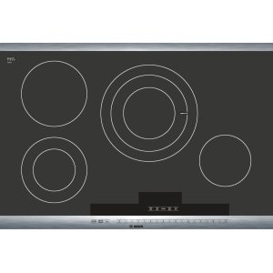 "BOSCH30"" Stainless Steel Electric Cooktop with SteelTouch Control and AutoChef(R) 800 Series - Black and Stainless Steel NET8054UC"